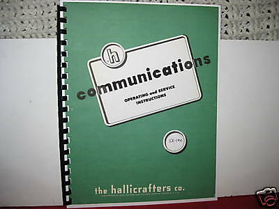 Hallicrafters SX-140 Operating & Service Manual