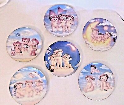 Dreamsicles Angels Collectible Porcelain Plates Lot of 6 Hamilton Collection