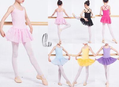 Au Stock Girls Adults Dance Ballet Dress Cotton Gymnastics Leotard Da025