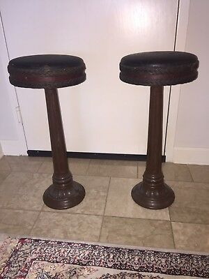 Antique Original Authentic Cast Iron Bar Stools