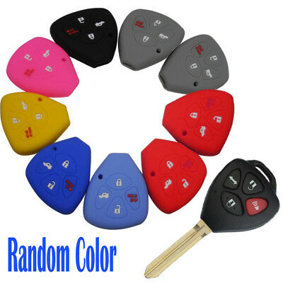 4 Button Silicone Remote Key Cover Fit For Toyota 4-Runner Rav4 Fob Case Random