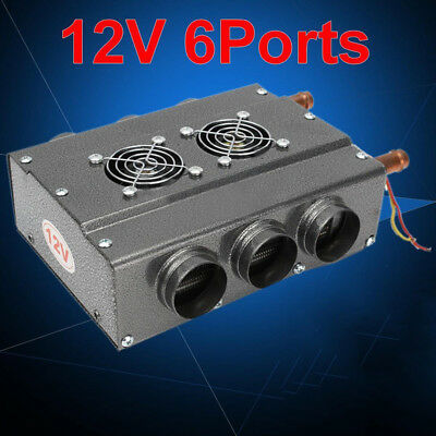12V 6 Ports Universal Double Side Iron Compact Car Heater With Speed Switch