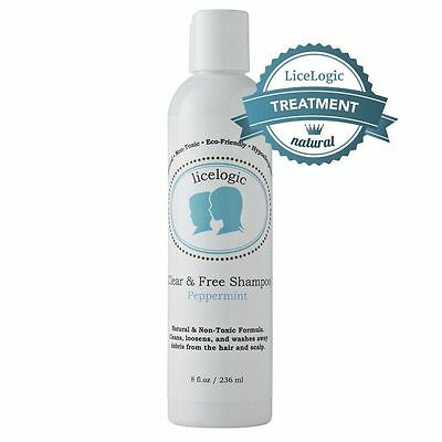 LiceLogic Clear and Free Natural Enzyme Based Lice Shampoo 8oz Peppermint
