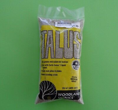 WOODLAND SCENICS C1279 TALLUS Medium Grey Rocks, NEW in Packet