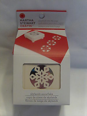 New Martha Stewart Skylands Snowflake Punch All Over The Page Christmas 42-90029