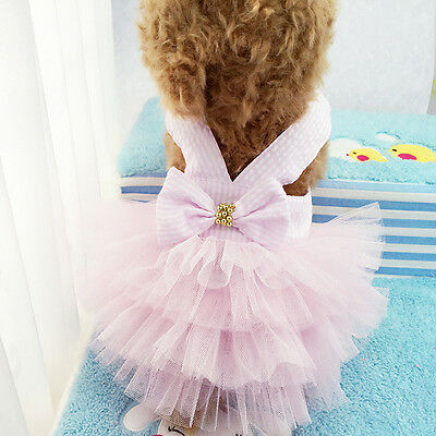 1PC Small Pet Dog Dress TUTU Skirt Cat Puppy Clothes Apparel Princess Clothes AU