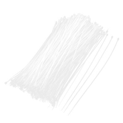500 Pcs White Self Locking Zip Ties Wraps Straps 2mm x 200mm for Wire Cable