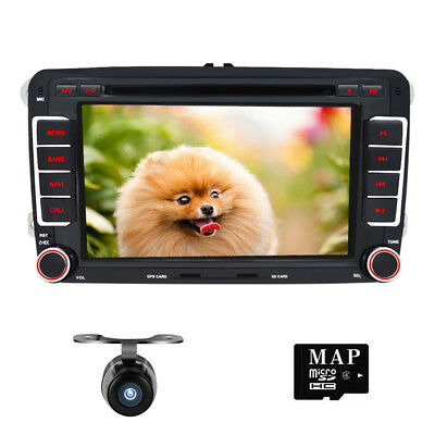 Autoradio DVD GPS Navegación For VW PASSAT GOLF JETTA LEON TOLEDO CADDY GPS+Cam