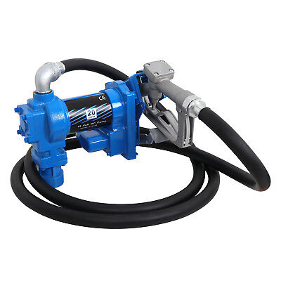 12V DC Electric Fuel Transfer Pump Diesel Kerosene Oil Commercial 20 GPM