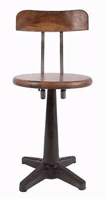 Industrial Chair Stool | Swivel Height Adjustable | Cafe Dining Table | RRP 360