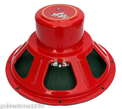 """Tone Tubby -  Red Alnico 12"""" 16 Ohm Hempcone Guitar Speaker - Made In The Usa"""