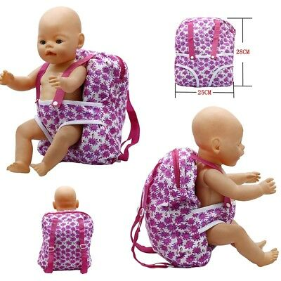 Outgoing Packets Doll Flower Backpack Suitable For Carrying 43cm Baby Born Zapf