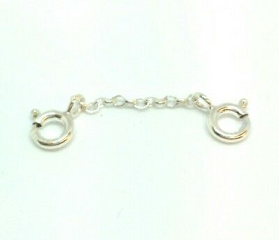 Sterling Silver necklace, bracelet extender, safety chain 1 inch long  FREE POST