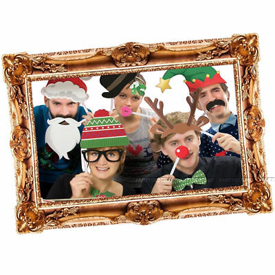 Christmas Photo Booth Props Funny Face Xmas Party Picture New Year Selfie Fun