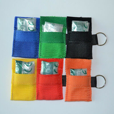 1/5x Rescue CPR Resuscitator Mask Emergency Keychain First Aid Medical Supplies