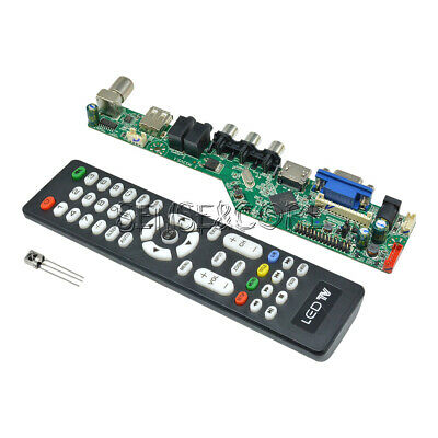 V29 Universal LCD Controller Board TV Motherboard Support 7-55 inch LVDS Screen