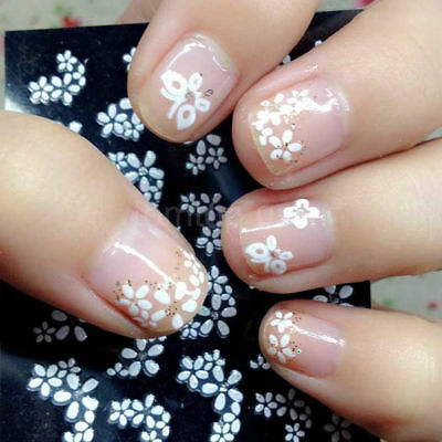 3D Flower Design Nail Art Transfer Stickers Manicure Tips Decal Decoration Girls
