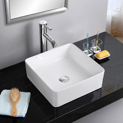 UK New Modern Square Table Top Wash Basin Designs Small Lav Toilet Sinks
