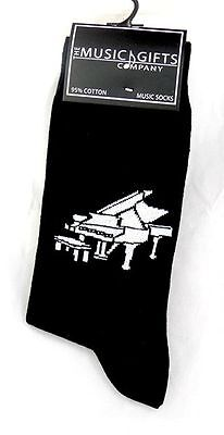Grand Piano Socks - Music Themed Gift - Musical Socks for Music Student