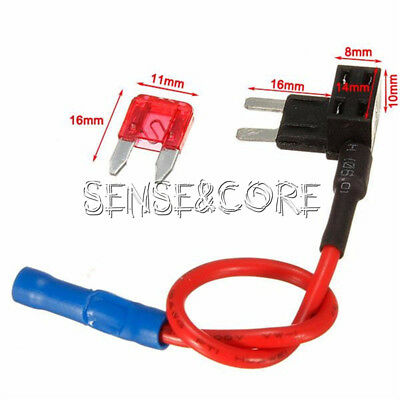 12V TAP Adapter Car Add-a-circuit Fuse Mini ATM APM Auto 10A Blade Fuse Holder