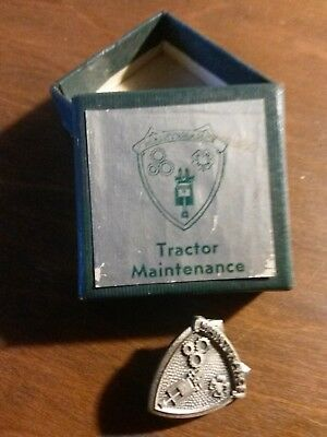 Sterling Silver Tractor Maintenance Service Pin County Honor Standard Oil Co