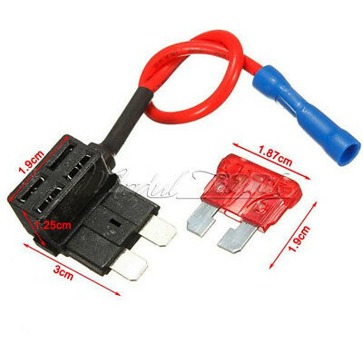 12V Car Fuse Add-a-circuit Standard ATM APM Auto Blade Fuse Holder TAP Adapter