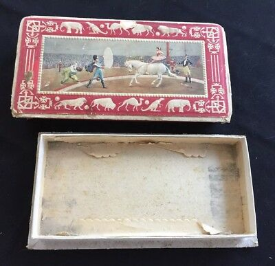 Vintage Candy Box Cardboard Embossed Circus Animals And Big Top Scene