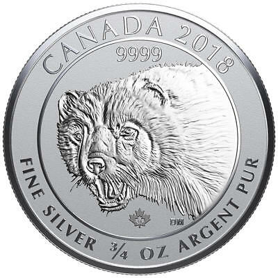 2018 Canadian Wolverine 3/4 oz Reverse Proof Silver Coin