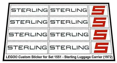 Replica Sticker for Lego®Legoland Airport 1551 - Sterling Luggage Carrier (1972)