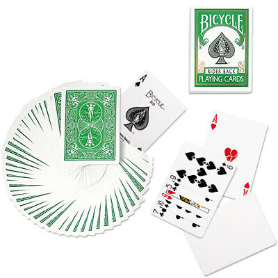 Bicycle Green Deck - Playing Cards - Rider Back - Magic Tricks - New