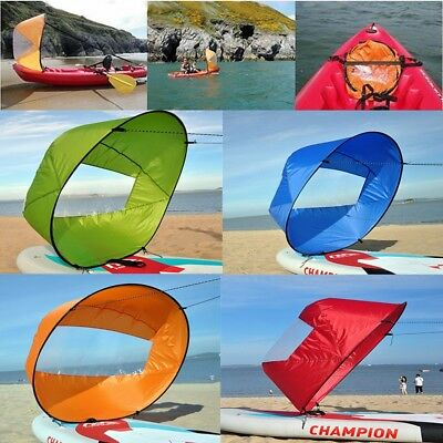 Portable 42'' Downwind Wind Paddle Popup Kayak Canoe Sail Wind Kayak Accessories