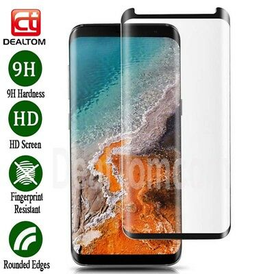 Case Friendly 3D Tempered Glass Screen Protector Film Samsung Galaxy S7 Edge S8
