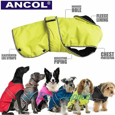 Ancol All Weather Stormguard Dog Puppy Waterproof Harness Rain Jacket Coat