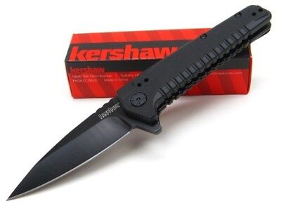 KERSHAW Tactical Black FATBACK Assisted Straight Folding Pocket Knife! 1935