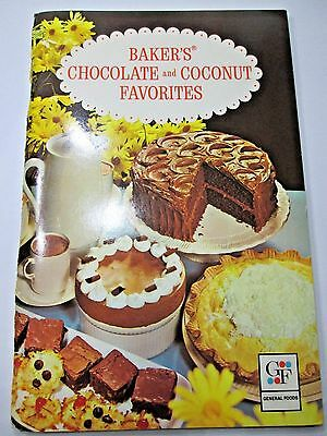 1977 Baker's Chocolate and Coconut Favorites Cook Book 72 pp 7th ed VG-EX Cond