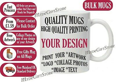 Bulk Wholesale Promotional Personalised Mug Collage Photo Image Picture Logo