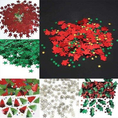 Christmas Table Confetti Table Decorations/Snowflake/Santa/Reindeer/Trees/Merry