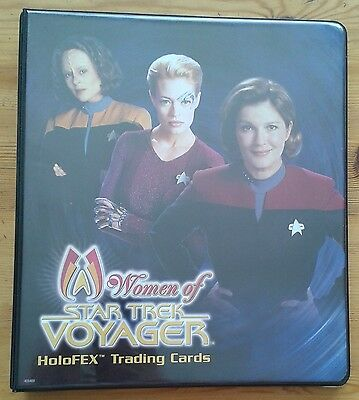 Women of Star Trek Voyager Holofex Trading Cards binder & base set & P1 & promo