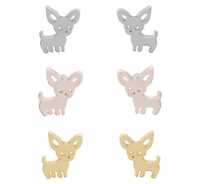 Chihuahua Stud Earrings Puppy Dog Cute Pet Lovely Gift Ladies/Childs Earrings
