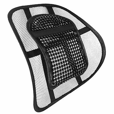 Chair Back Support Seat Elasticated Positioning Strap and Mesh Lumbar Grill