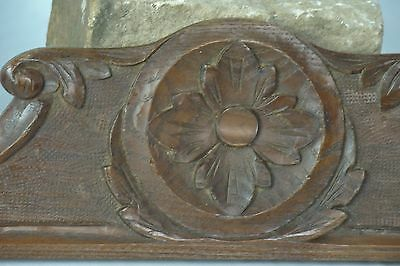 US0075 small Antique french pediment nice carvings
