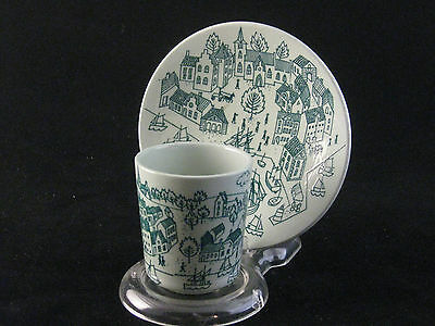 "Nymolle Art Faience ""Hoyrup"" Tea Cup & Saucer Made In Denmark"