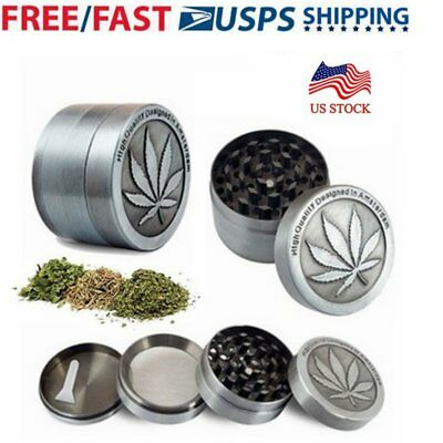 Tobacco Herb Spice Grinder 4 Piece Herbal Alloy Smoke Metal Chromium Crusher A1