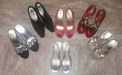 Lot of Womens high Heeled Pumps Size 8 Guess Jessica Simpson Open Toed Strappy