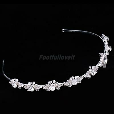 Delicate Bridal Wedding Crystal Flower Headband Headdress Hair Accessory