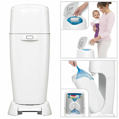 Baby Diaper Genie Complete Pail Antimicrobial With Odor Lock Disposal Trash Can