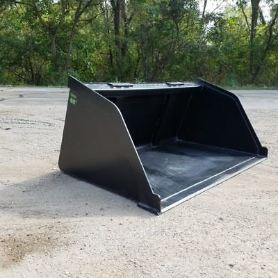 "60"" Snow/mulch/dirt/gravel Powder Coated Bucket For Skid Steer  Ships Free!"