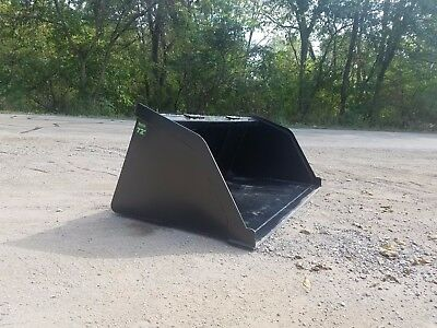 "72"" Snow/mulch/dirt/gravel Powder Coated Bucket Skid Steer Free Shipping"
