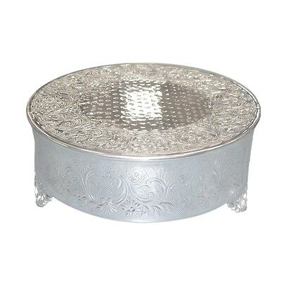 "Single Tiered 16"" inch Large Polished Metal Round Cake Stand - Wedding 1 Tier"