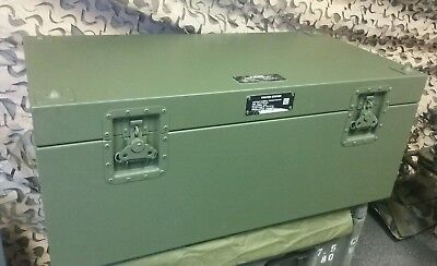 "MILITARY surplus Footlocker rifle case storage shipping container 37""x 19""x 16"""